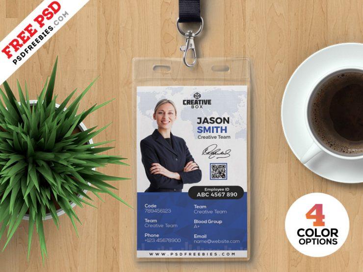 Photo ID Card Template PSD