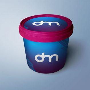 Plastic Bucket Mockup PSD