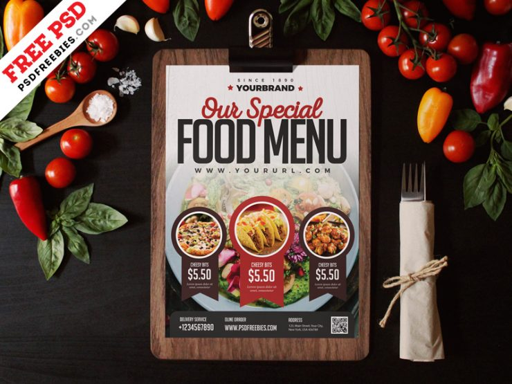 Restaurant Food Menu Design Template
