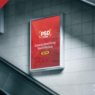 Subway Billboard Advertising Mockup