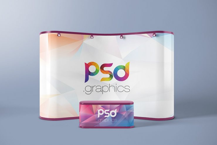 Trade Show Booth Mockup PSD