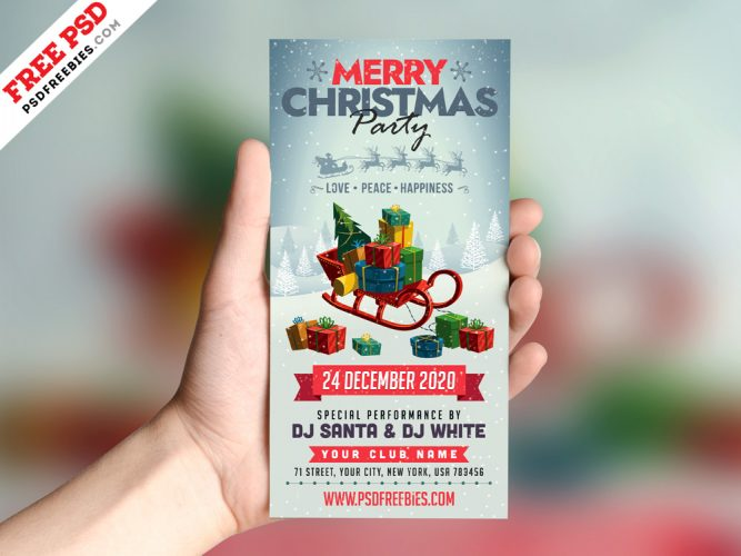 Christmas Party DL Flyer Template