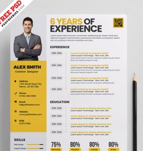Clean Resume Template Design