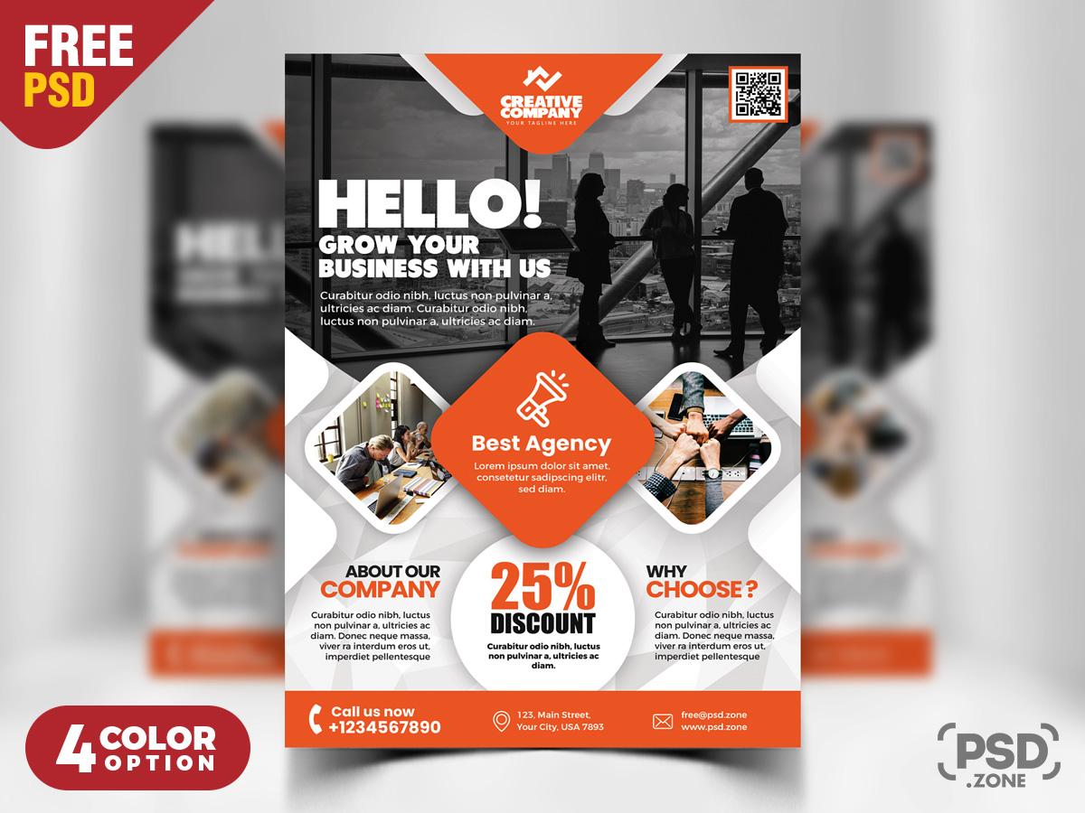 creative business flyer psd template