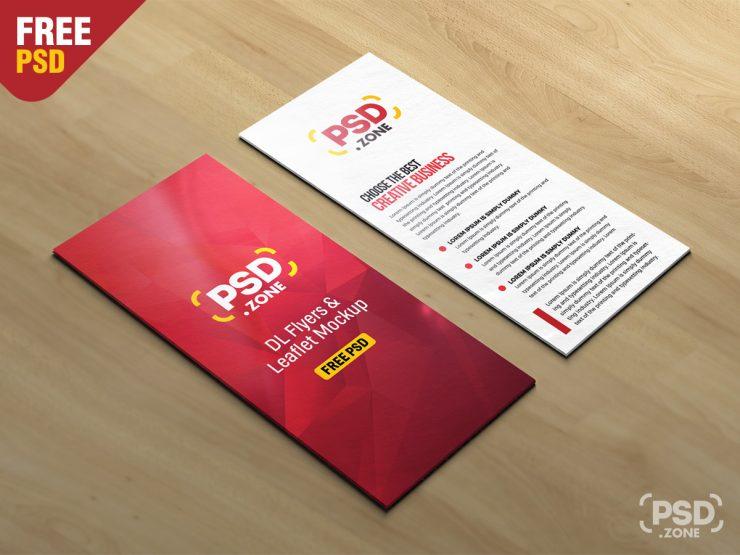 DL Leaflet Mockup PSD