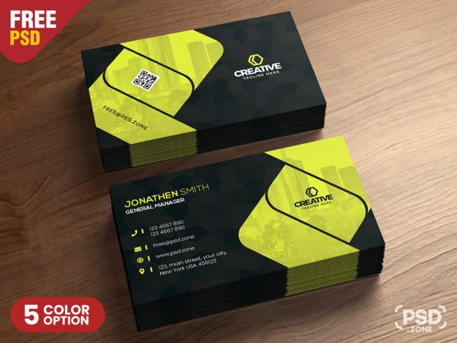 Free Corporate Business Card Design Template