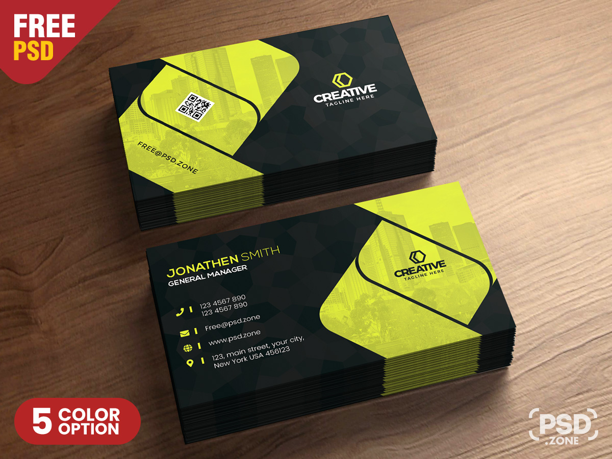 Free Corporate Business Card Design Template - Download PSD