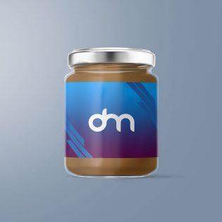 Free Glass Jar Mockup PSD