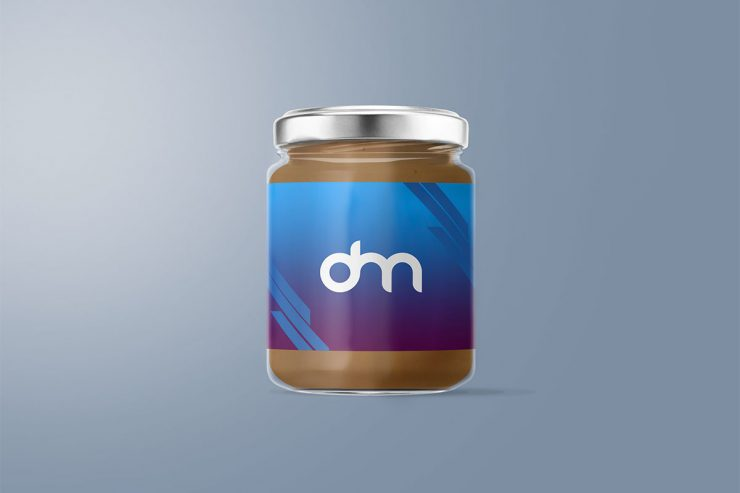 Free Glass Jar Mockup PSD