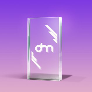 Free Glass Trophy Mockup