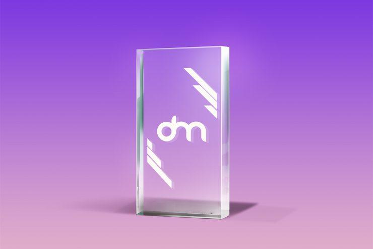 Free Glass Trophy Mockup