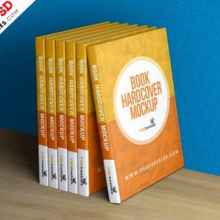 Free Hardcover Book Mockup Template