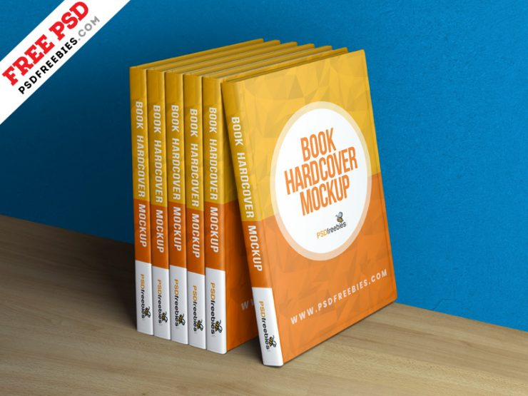 Free Hardcover Book Mockup Template