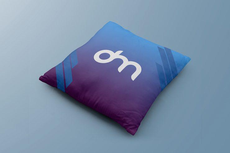 Free Square Pillow Mockup PSD