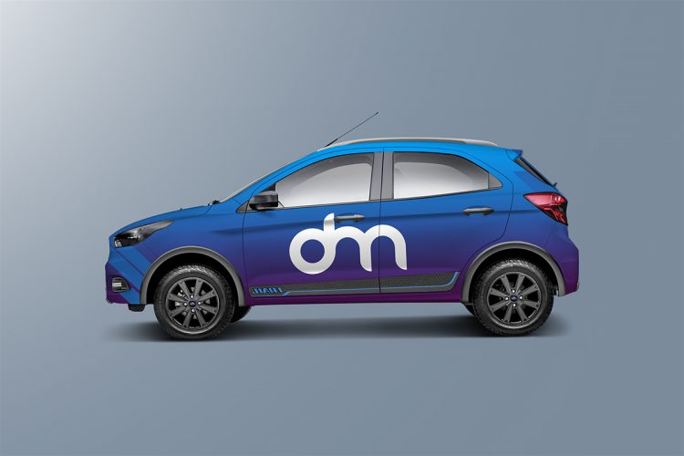 Hatchback Car Wrap Mockup