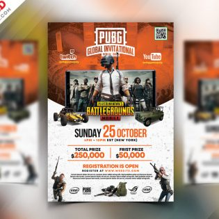 PUBG Tournament Gaming Flyer Template