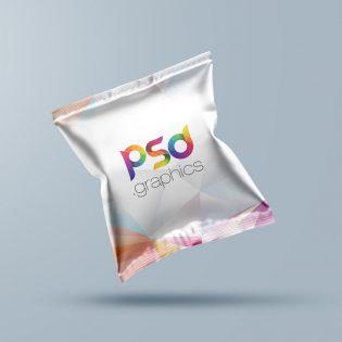 Snack Bag Packaging Mockup PSD