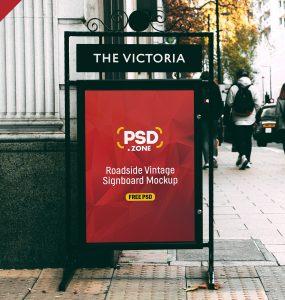 Street Signboard Mockup PSD