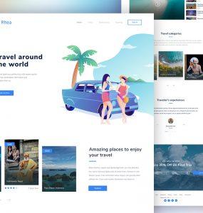 Travel Agency Website PSD Template