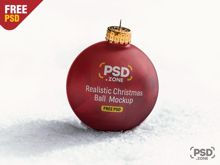 Christmas Ball Mockup PSD