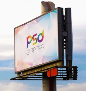 City Billboard Mockup PSD