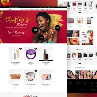 Cosmetics Store Website Template PSD