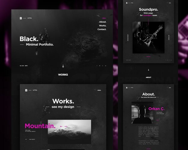 Dark Portfolio Website Template