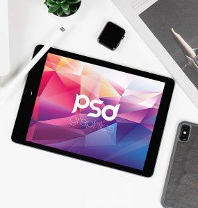 Flat Lay iPad Mockup PSD