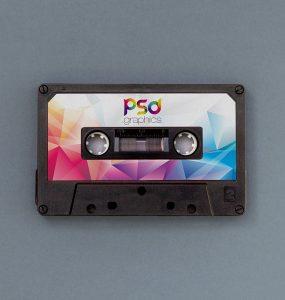 Free Audio Cassette Mockup