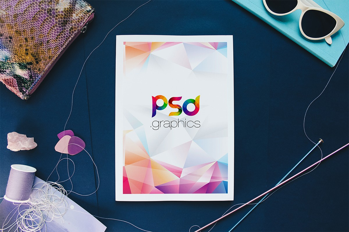 Free Fashion Magazine Cover Mockup - Download PSD
