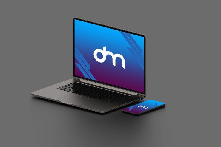 Free Macbook Pro Mockup PSD Template