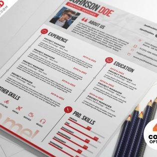 Free Resume CV PSD Template