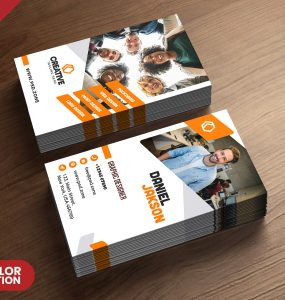 Free Vertical Business Card Template PSD