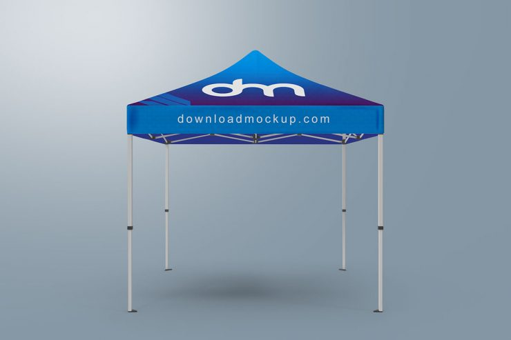 Square Canopy Pop-Up Tent Mockup PSD