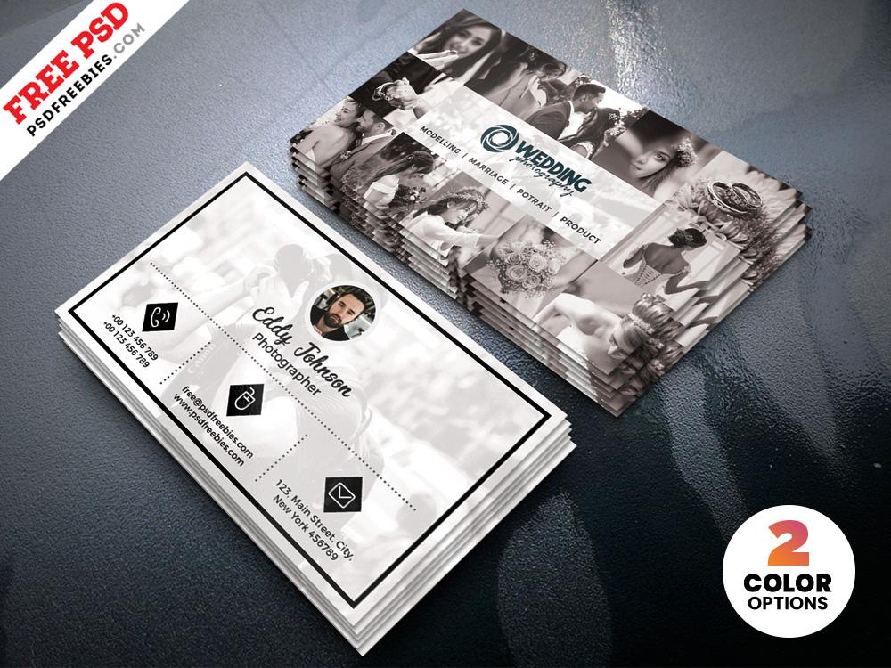 Wedding Photographer Business Card Template PSD - Download PSD