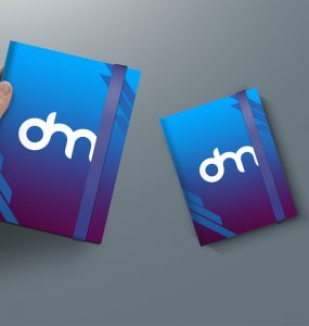 A4 Notebook Cover Mockup Template