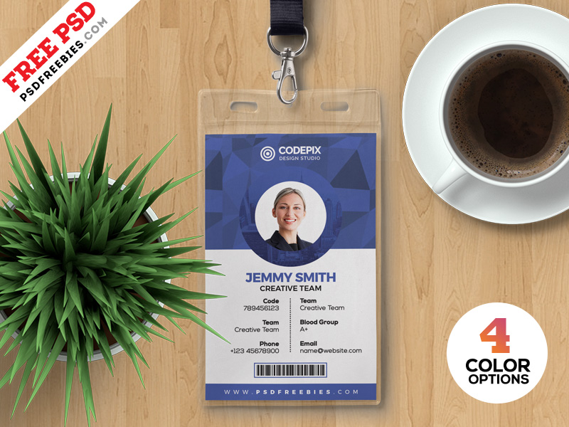 Corporate Office ID Card Template - Download PSD