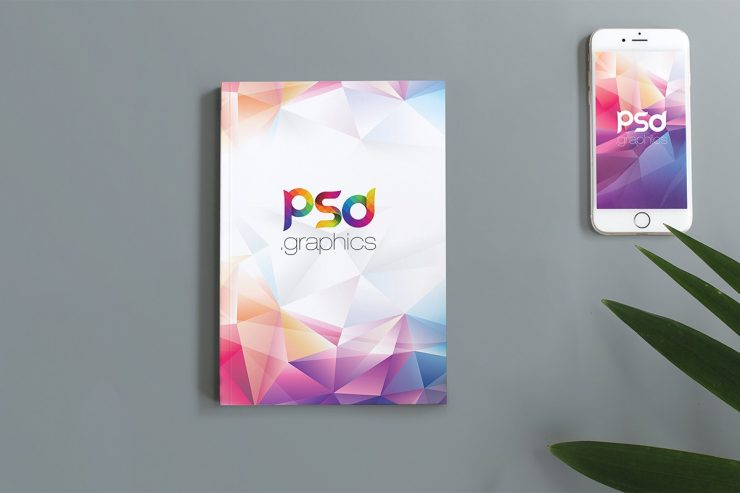 Flat Lay Book Cover Mockup Template