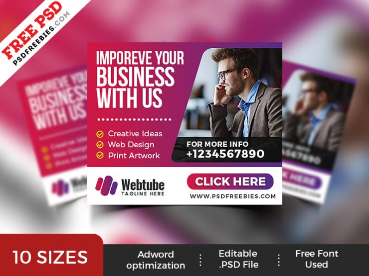 Free Business Web Banner Templates PSD