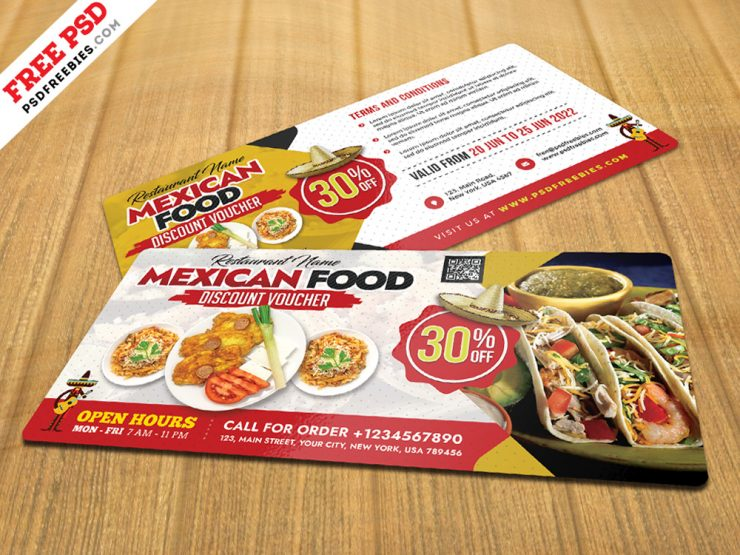 Free Restaurant Discount Voucher Template