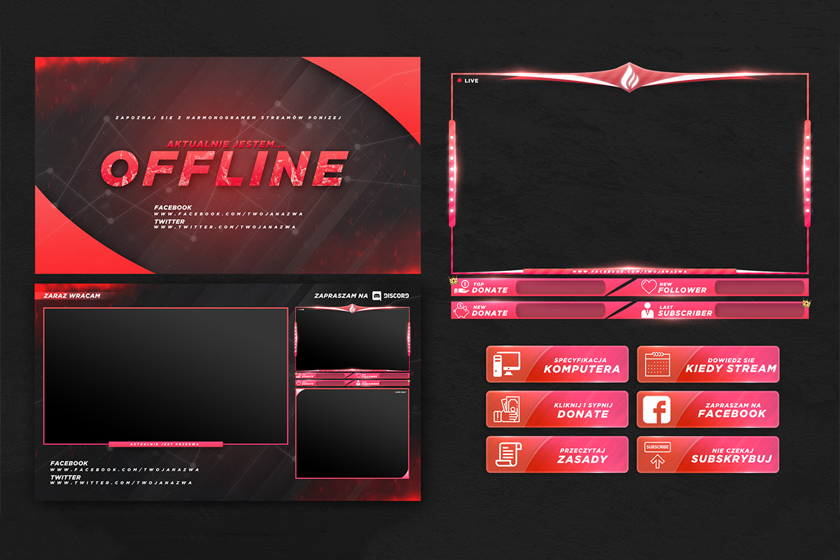 Free Twitch Stream Overlay Templates - Download PSD