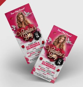 Valentines Day DL Flyer PSD Template