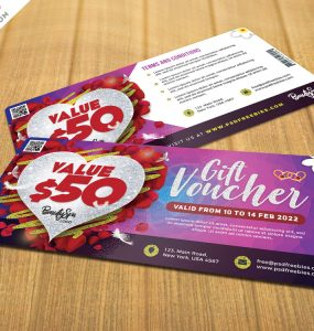 Free Valentine's Day Gift Voucher Template PSD
