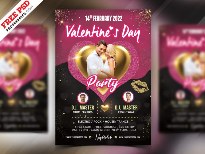 Free Valentines Day Party Flyer Template