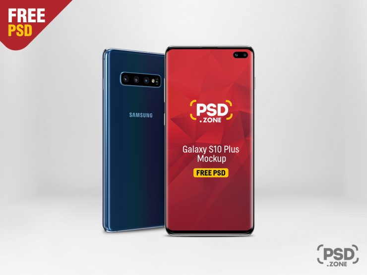 Galaxy S10 Plus Mockup Template