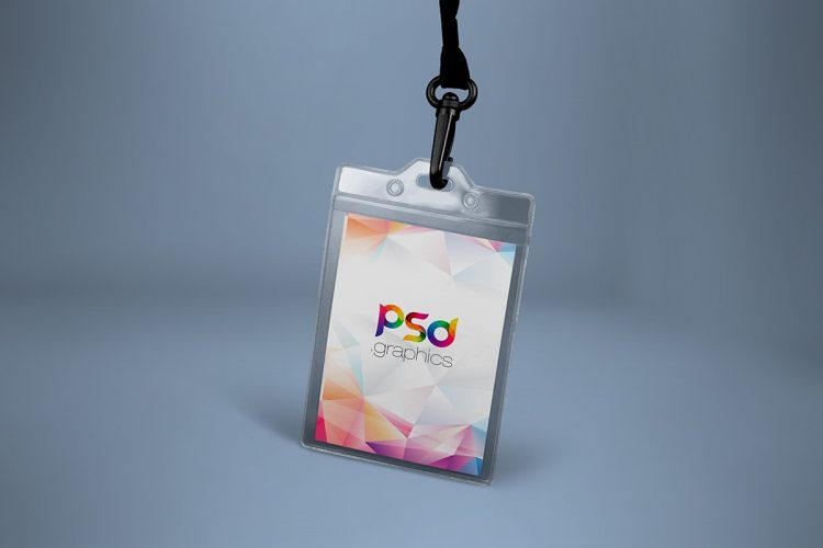 ID Card Mockup Template PSD