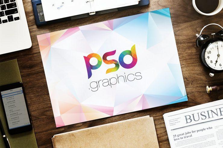 Landscape A4 Paper Mockup PSD