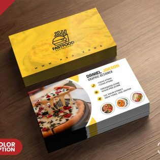Restaurant Business Card PSD Template