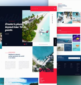 Travel Destination Website Template PSD