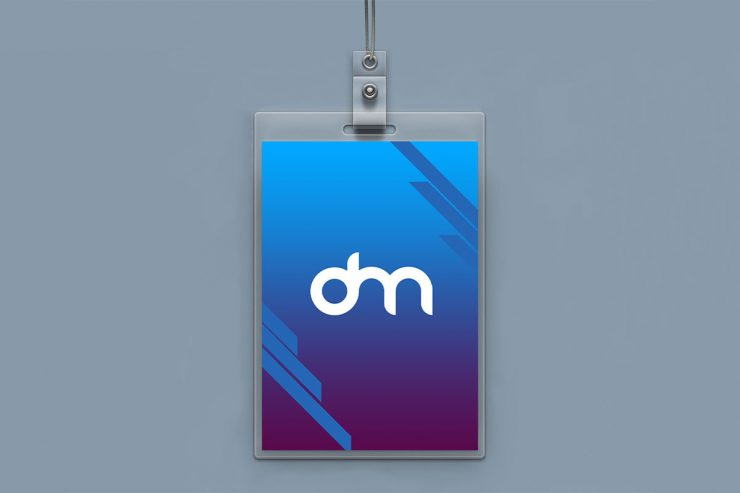 Vertical ID Card PSD Mockup